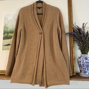 Anne Klein 100% Cashmere Button Cardigan Sweater